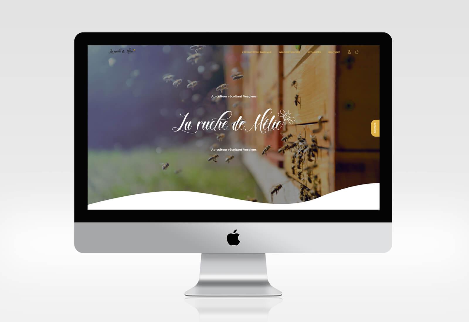 Josselin tourette – miel -ruche – melie – site-internet – 1