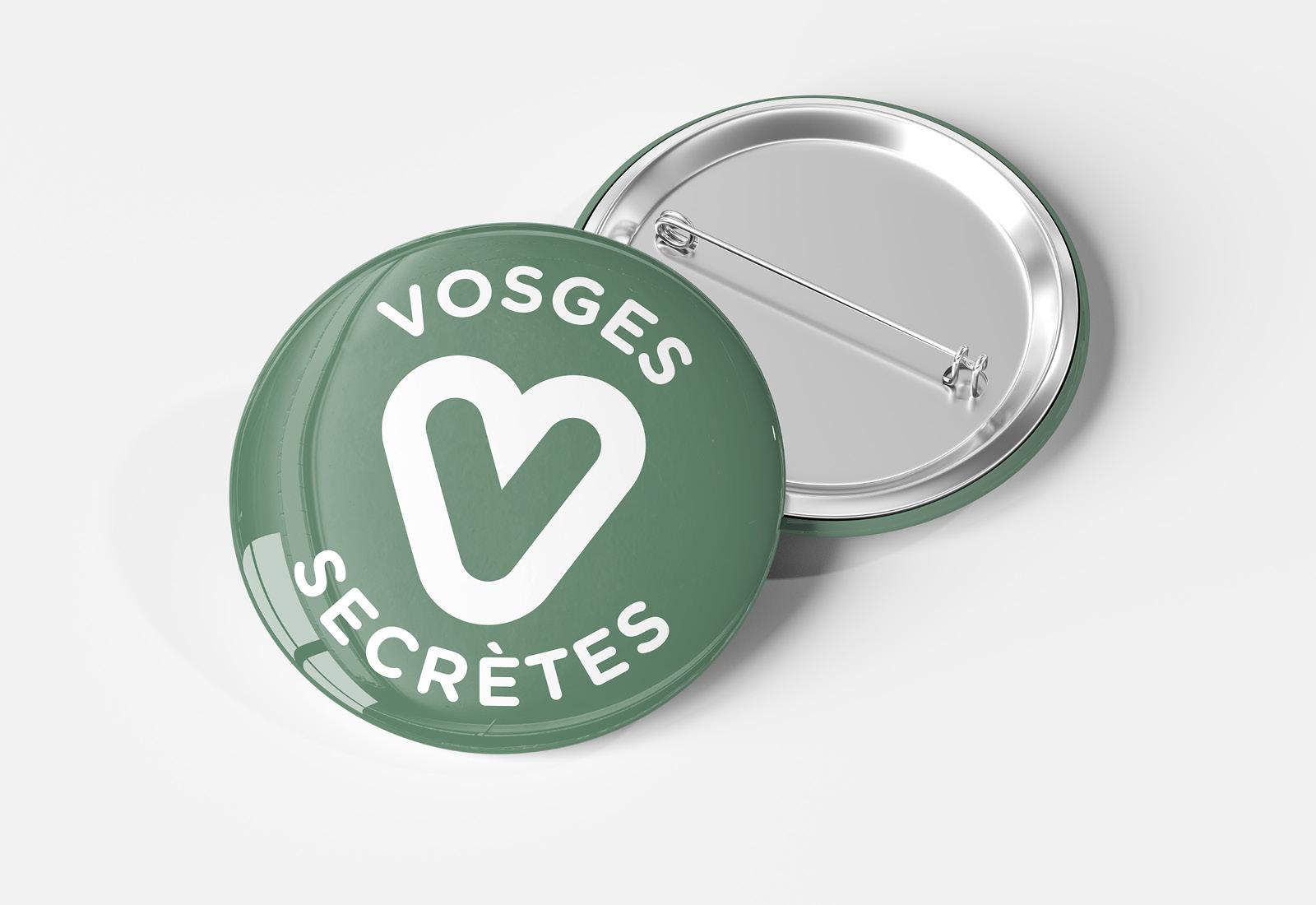 Josselin tourette – Vosges Secretes – Badge – 1