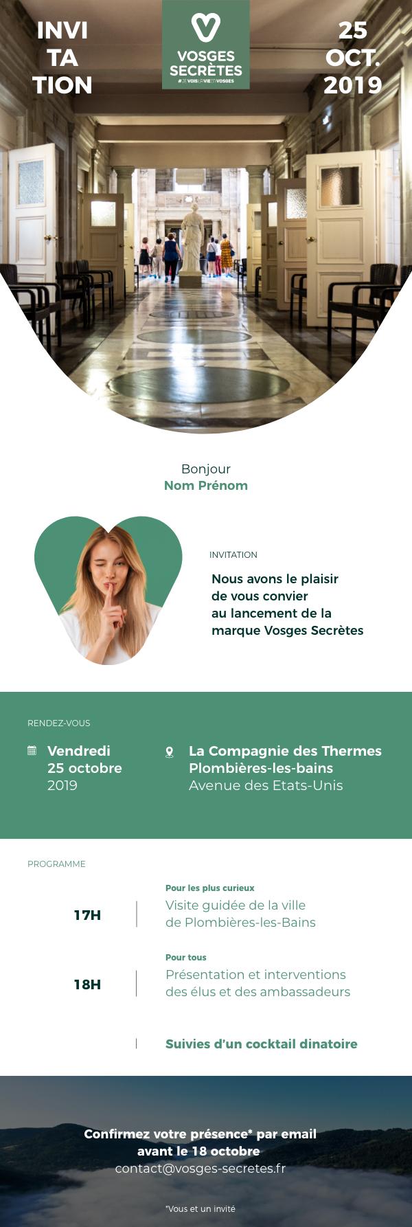 Vosges Secrete – invitation – 2