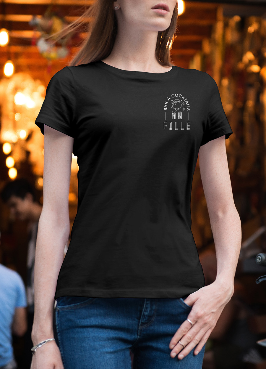 Josselin-Tourette-Ma-fille-Bar-Cocktails-Tshirt-